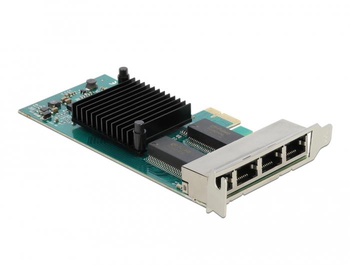 Vorschau: Delock 88504 - Eingebaut - Verkabelt - PCI Express - Ethernet - 4000 Mbit/s