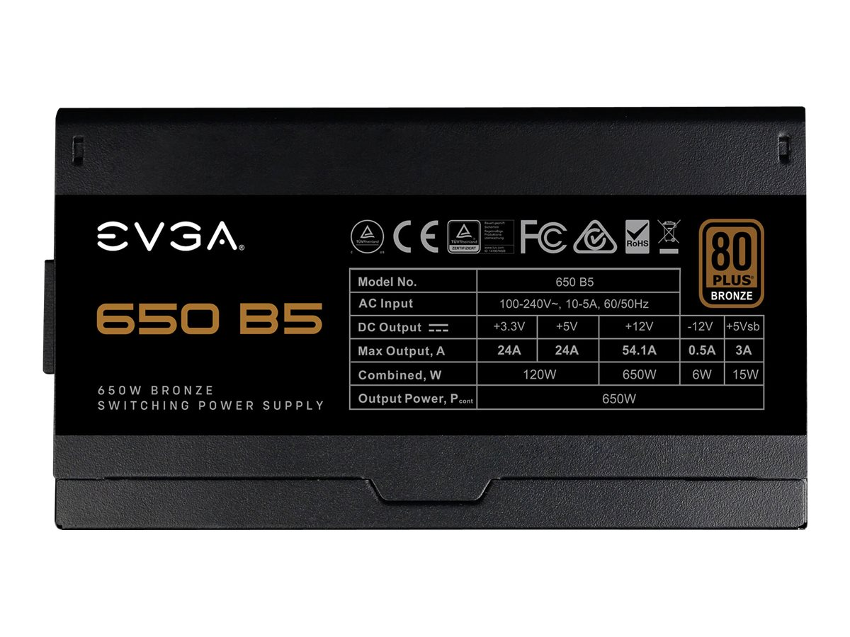 Vorschau: EVGA 650 B5 - Netzteil (intern) - ATX12V / EPS12V