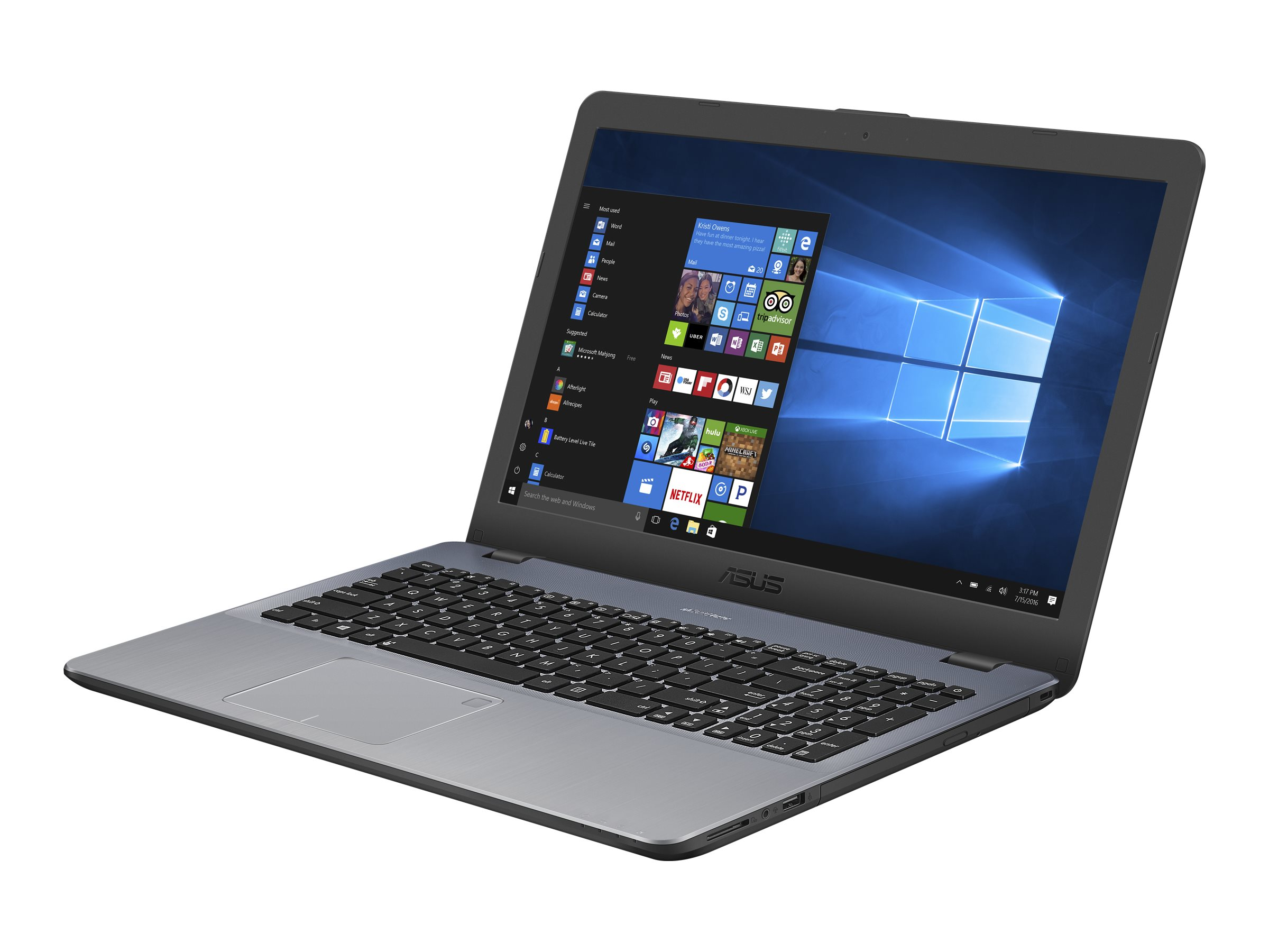 "ASUS VivoBook 15 X542UN-DM243T - 39.6 cm (15.6"") Full HD - Core i7 8550U - 8 GB RAM - 256 GB SSD + 1 TB HDD - NVIDIA GeForce MX150 - Win 10"