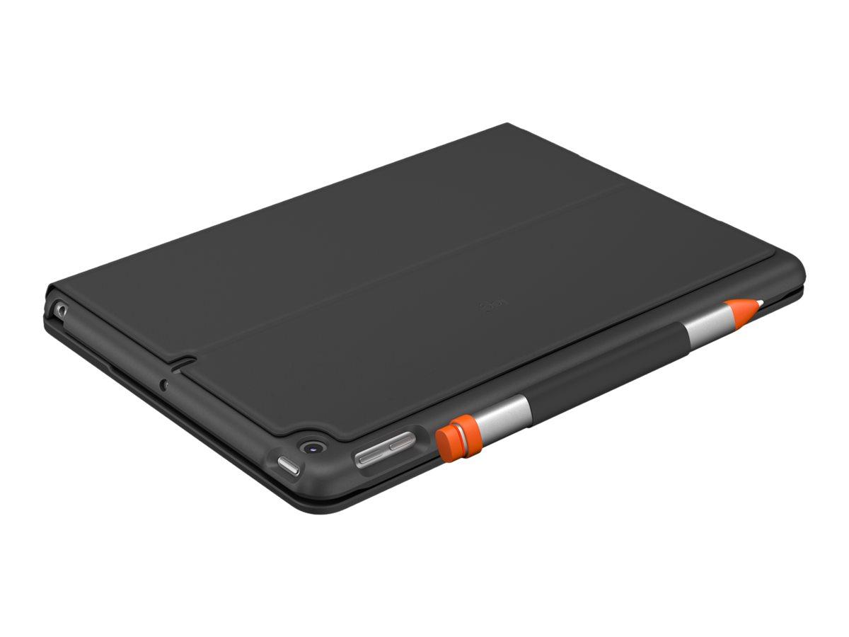 Logitech Slim Folio - Tastatur und Foliohülle - Bluetooth - QWERTZ - Deutsch - Graphite - für Apple 10.2-inch iPad (7. Generation, 8. Generation)