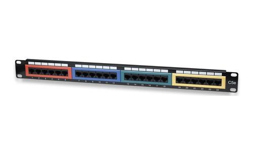 Intellinet Cat5E Color-Coded - Patch Panel - RJ-45 X 24