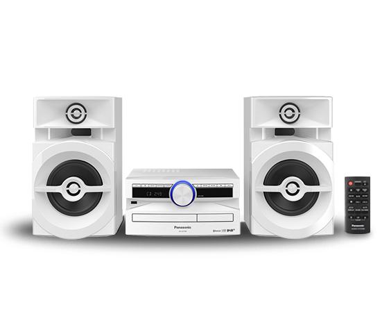 Panasonic SC-Ux104EG - Home-Audio-Minisystem - Wei? - Einfarbig - 1 Deck(s) - 300 W - 2-Wege