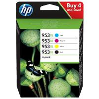 HP Multipack cyan/magenta/yellow/black Nr. 953XL (3HZ52AE) ca. 2.000 Seiten black & 1.600 Seiten cmy