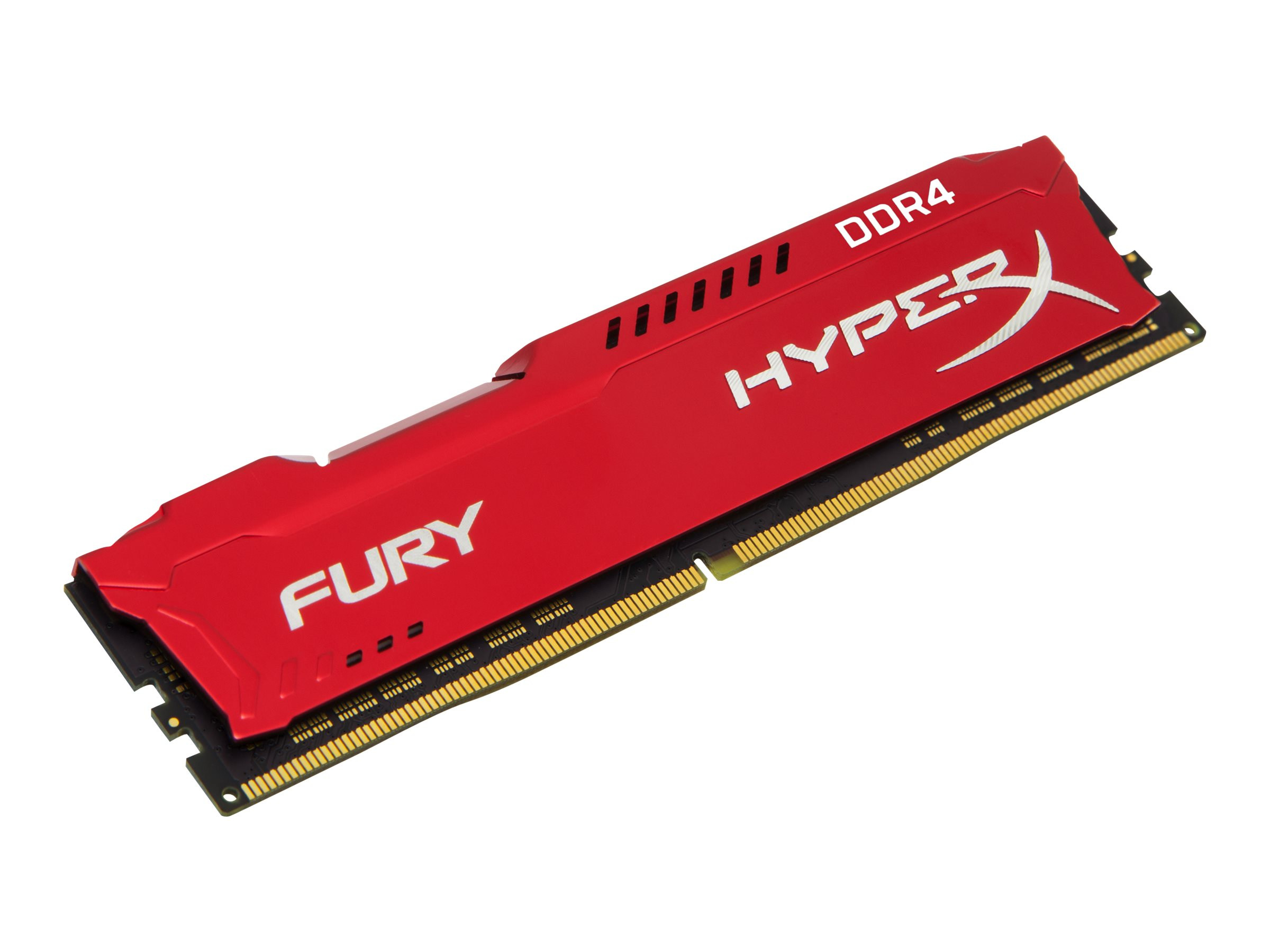 Kingston HyperX FURY - DDR4 - 16 GB - DIMM 288-PIN - 3200 MHz / PC4-25600 CL18 - 1.2 V - ungepuffert - non-ECC - Rot