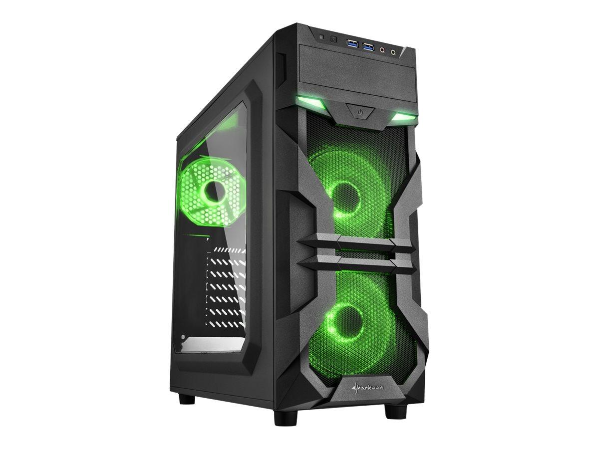Sharkoon Tower - ATX - ohne Netzteil - grün