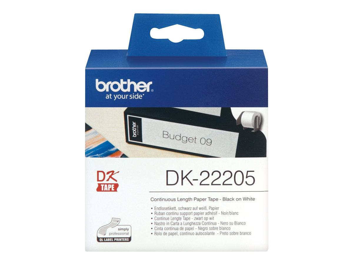 Brother DK-22205 - Schwarz auf Weiß - Rolle (6,2 cm x 30,5 m)