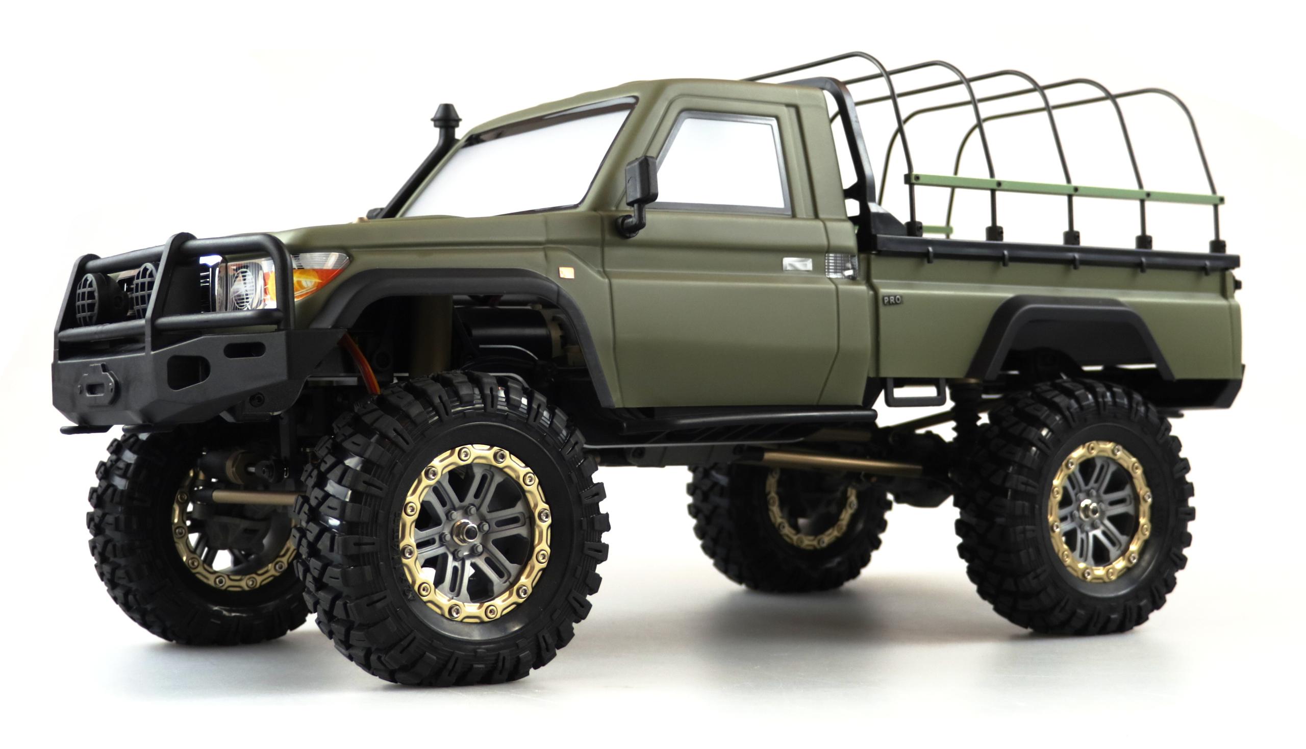 Amewi AMXROCK RCX10PS - Off-Road-Wagen - Elektromotor - 1:10 - Fahrbereit (RTD) - Grün - Metall