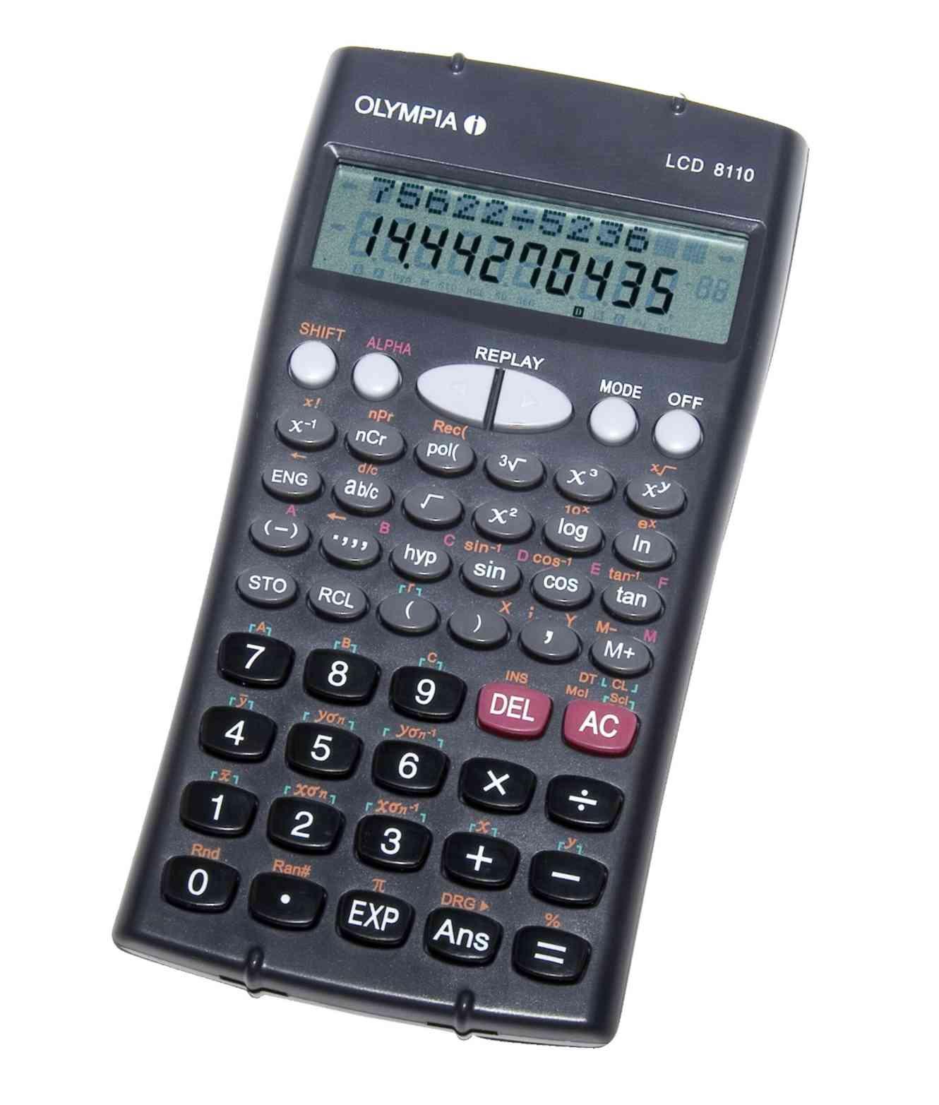 Olympia LCD 8110 - Wissenschaftlicher Taschenrechner - 12- und 10-stelliges Display