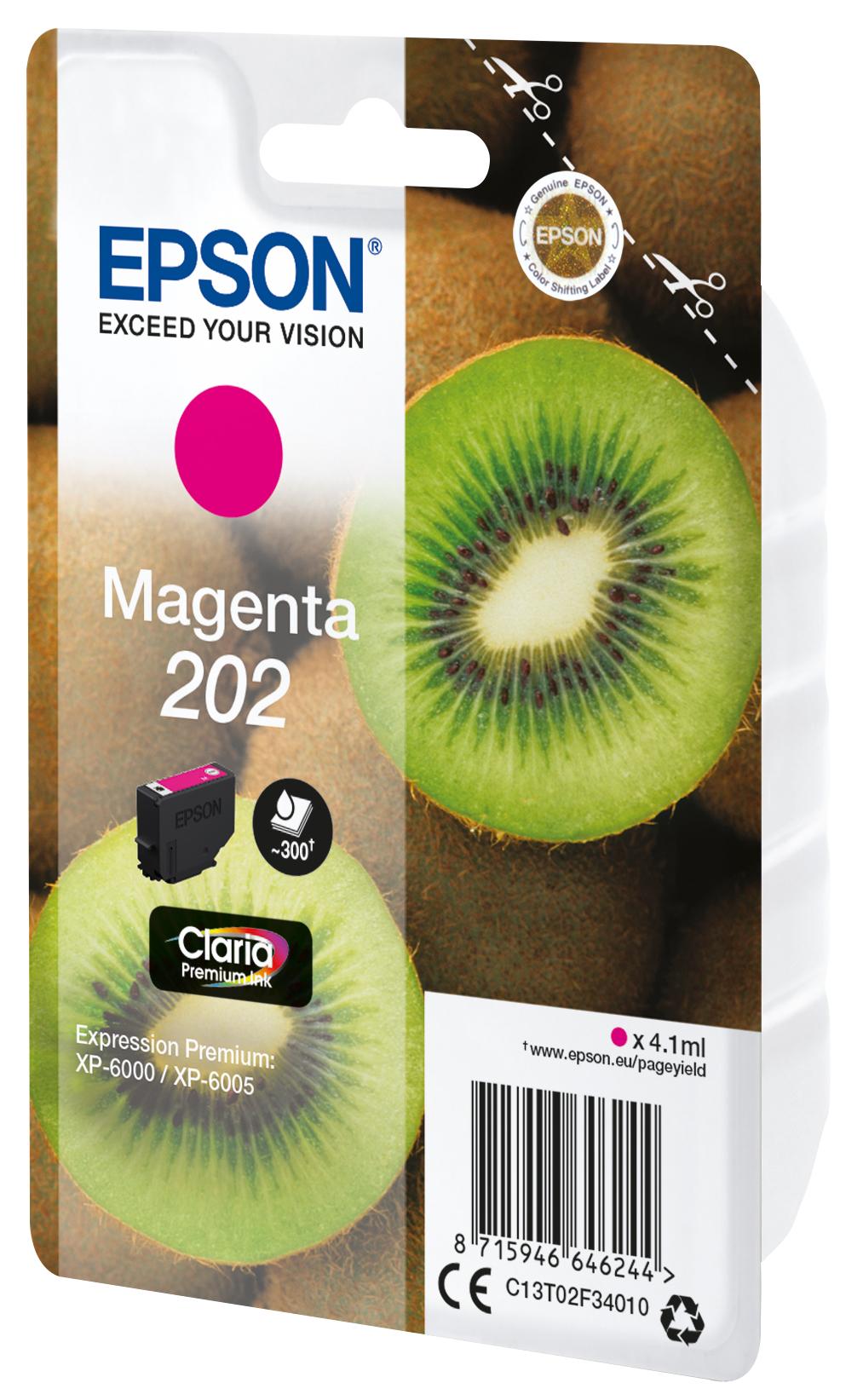 Epson-C13T02F34020-Kiwi-Singlepack-Magenta-202-Claria-Premium-Ink-Original thumbnail 3