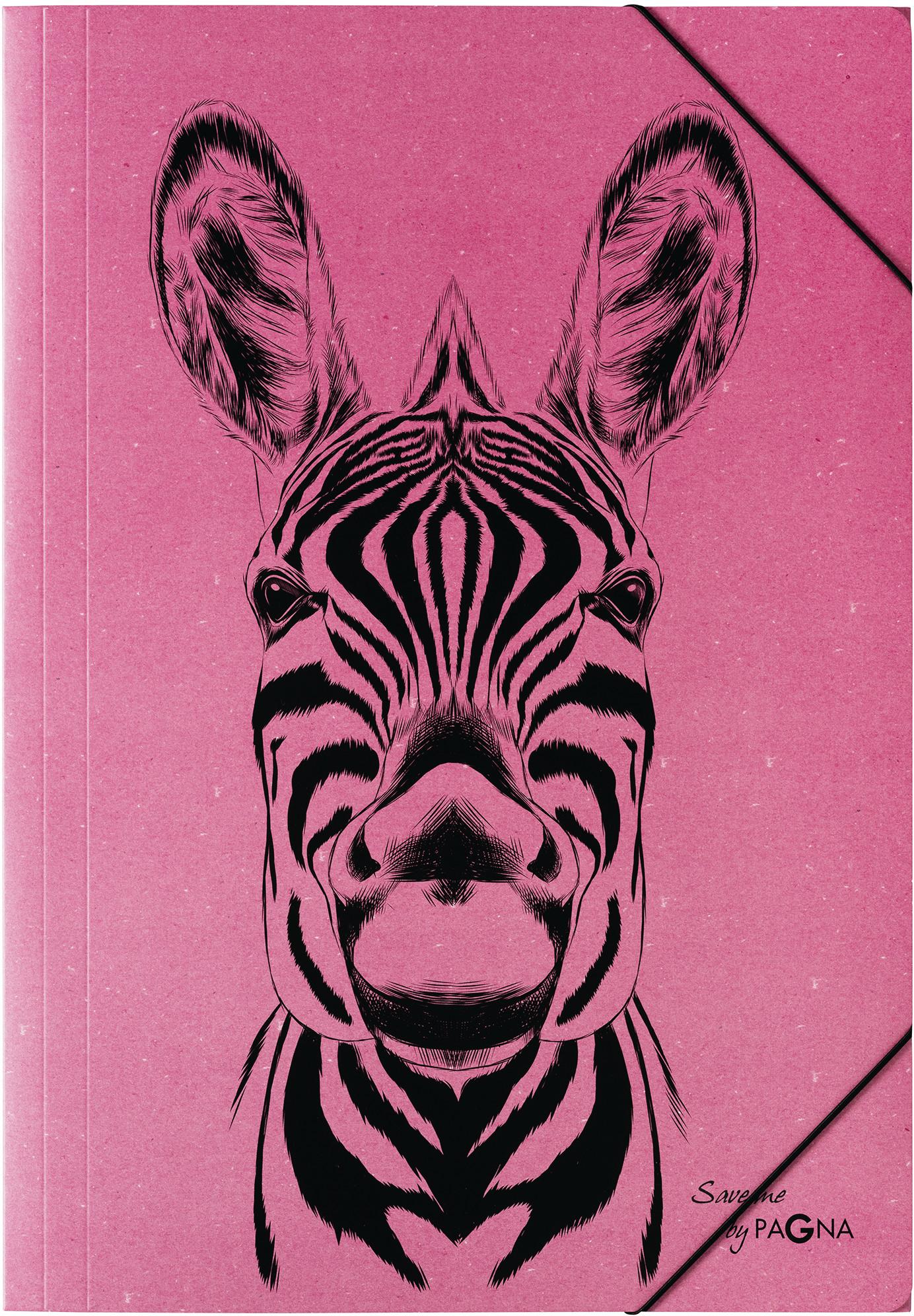 Pagna 21659-34 - Zeichenmappe - DIN A3 - Zebra Motiv