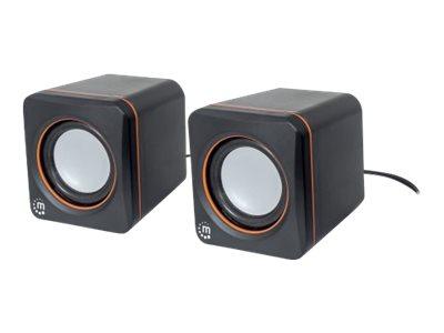 Manhattan 2600 Lautsprechersystem, USB, kompakt, 2 Lautsprecher