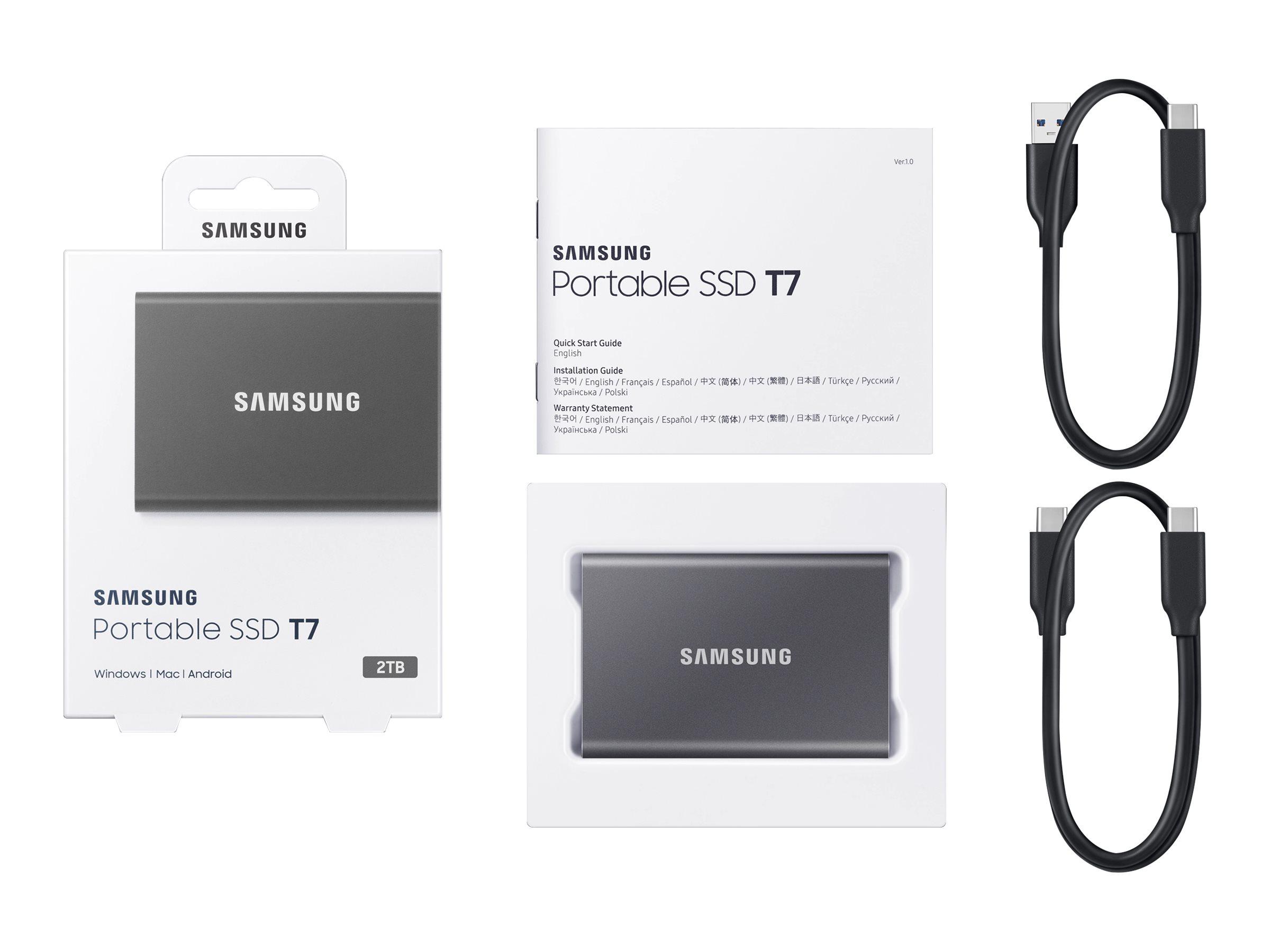 Samsung Portable SSD T7 MU-PC2T0T - 2 TB SSD - extern (tragbar)