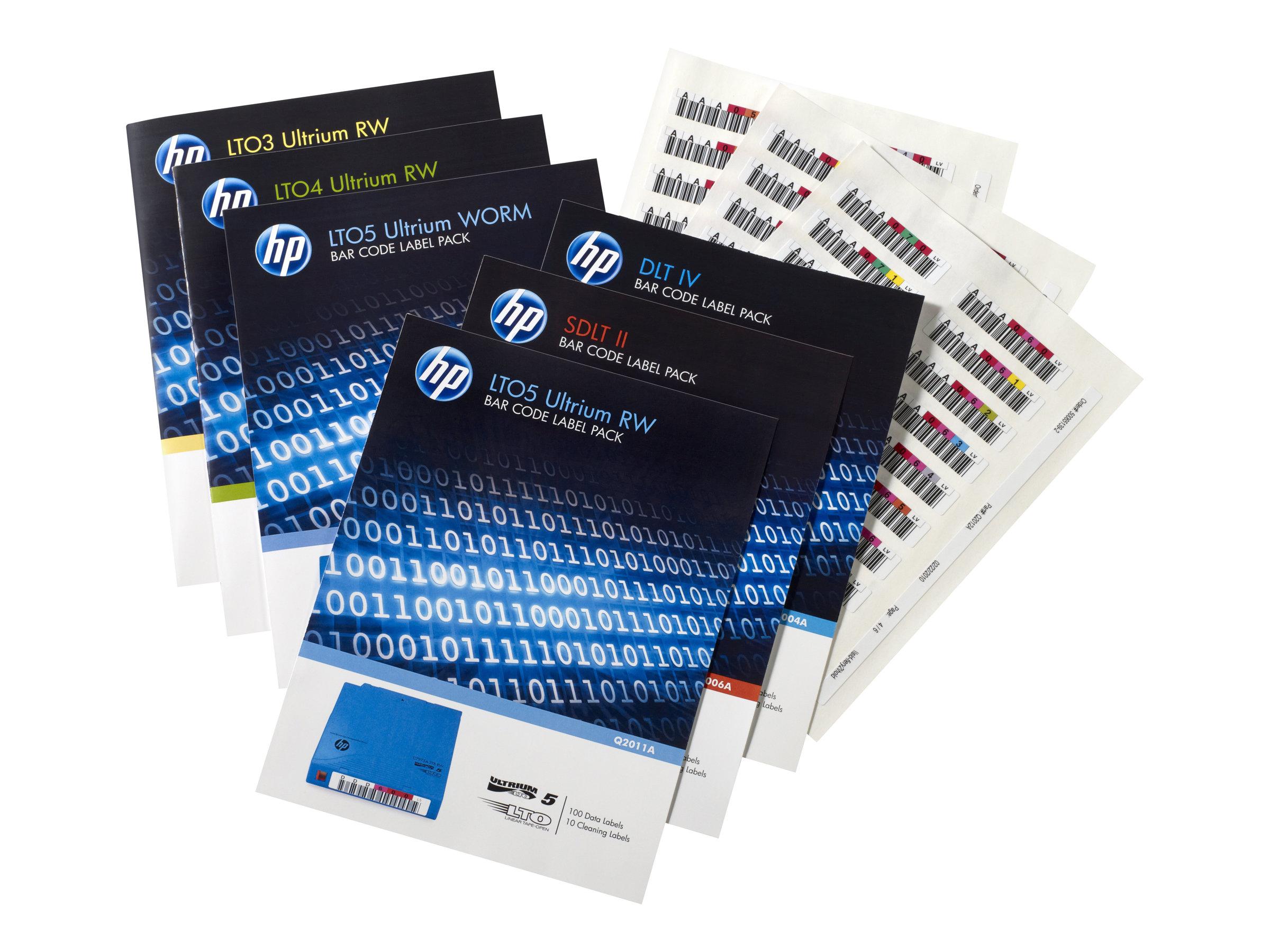 HP LTO-4 Ultrium Etiketten (Q2009A)