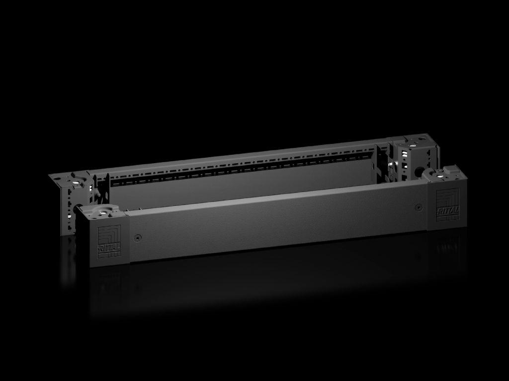 Rittal VX - Sockel-Eckstück mit Sockel-Blende - vorne und hinten - RAL 9005 (Packung mit 2)