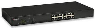 Intellinet 16-Port Rackmount Unmanaged network switch Schwarz