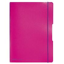 Herlitz 11361474 - Notizheft - A4 - Kariertes Papier - Pink - 80 Blätter