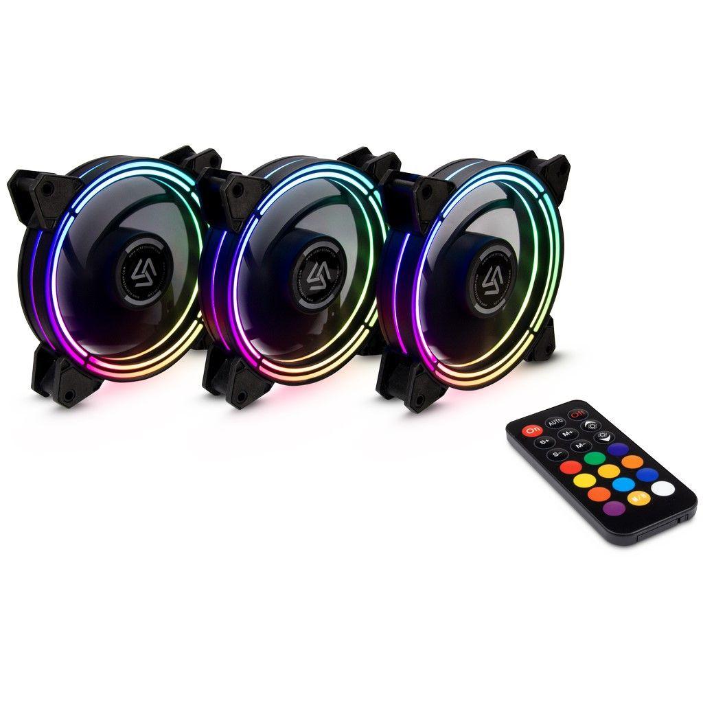 Inter-Tech Lüfter 120*120*25 Alseye Halo 3.0 Plus Fan Set retail