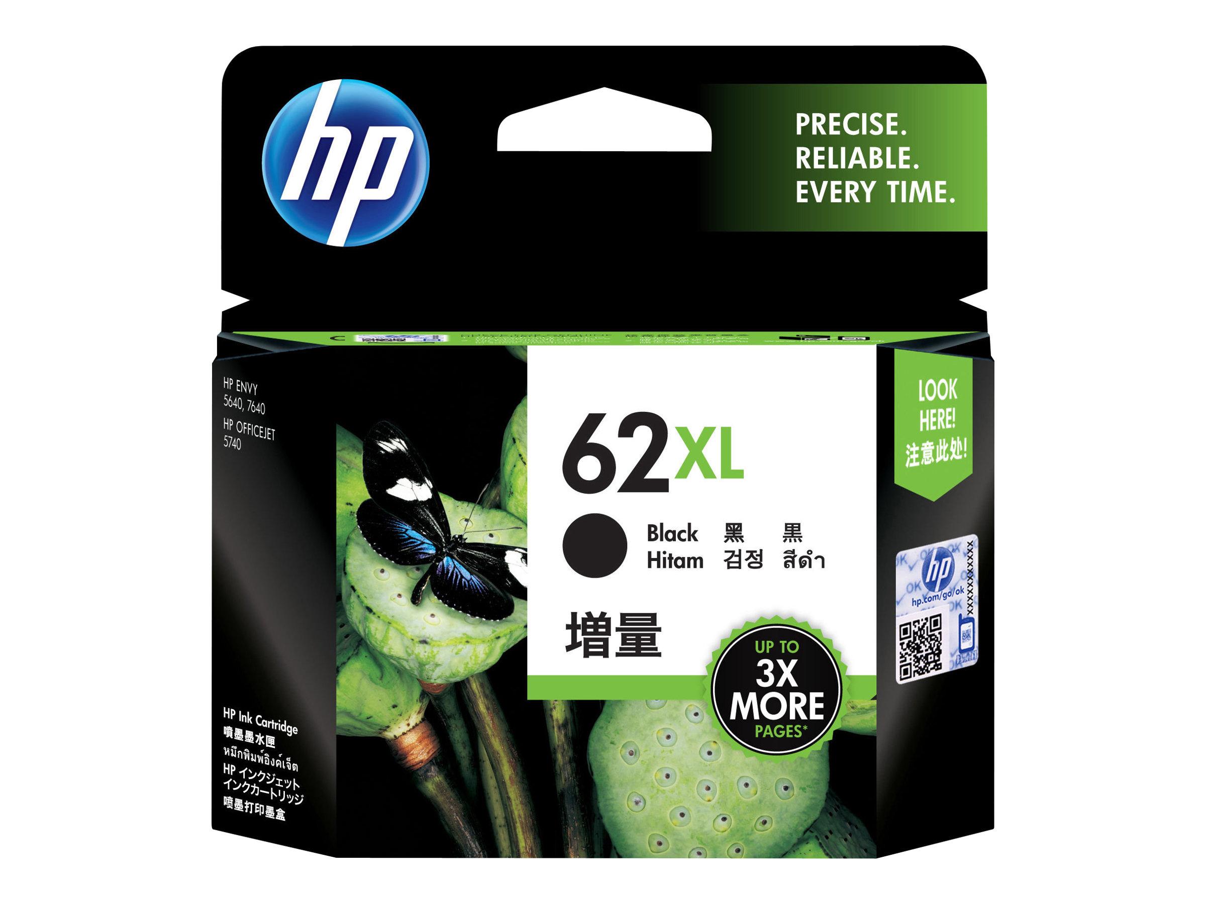 HP 62XL - Hohe Ergiebigkeit - Schwarz - Original