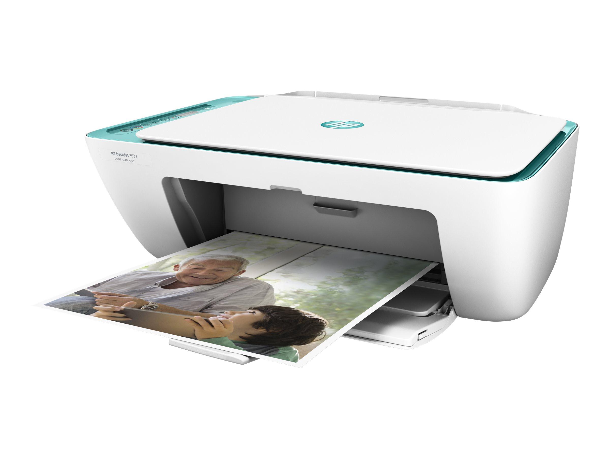 HP Deskjet 2632 All-in-One - Multifunktionsdrucker - Farbe - Tintenstrahl - 216 x 297 mm (Original)