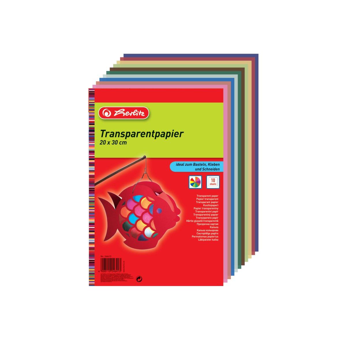Vorschau: Herlitz 246413 - 40 g/m² - 10 Blätter - Gemischte Farben - Deutschland