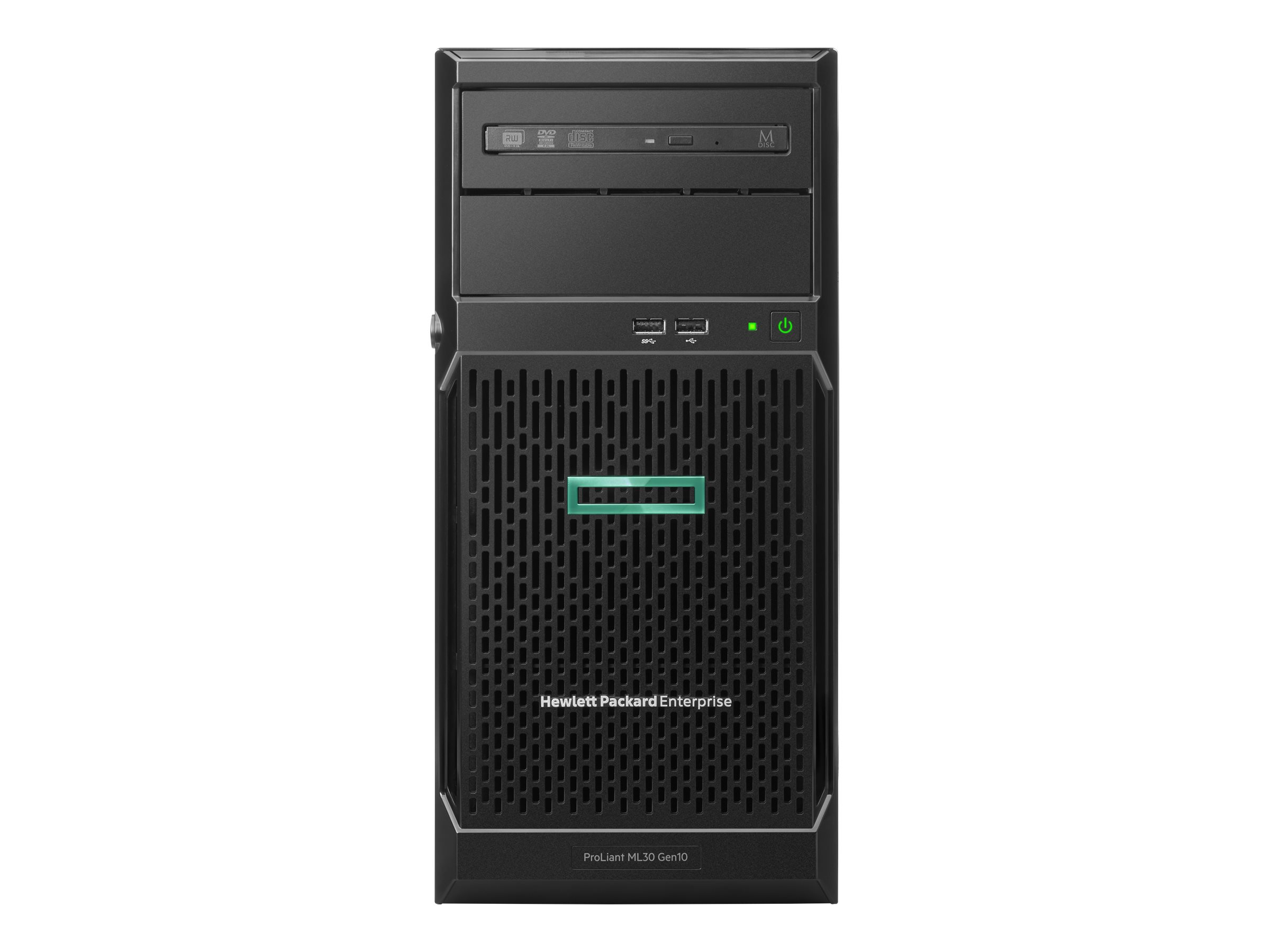 "HP Enterprise ProLiant ML30 Gen10 - Server - Tower - 4U - 1-Weg - 1 x Xeon E-2224 / 3.4 GHz - RAM 16 GB - SATA - Hot-Swap 6.4 cm (2.5"")"