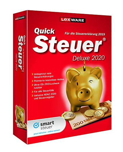 Lexware QuickSteuer Deluxe 2020 - Box-Pack - DVD - Deutsch