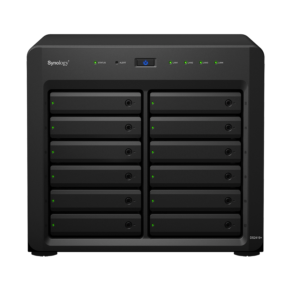 Synology DiskStation DS2419+ - NAS - Tower - Intel Atom® - C3538 - Schwarz
