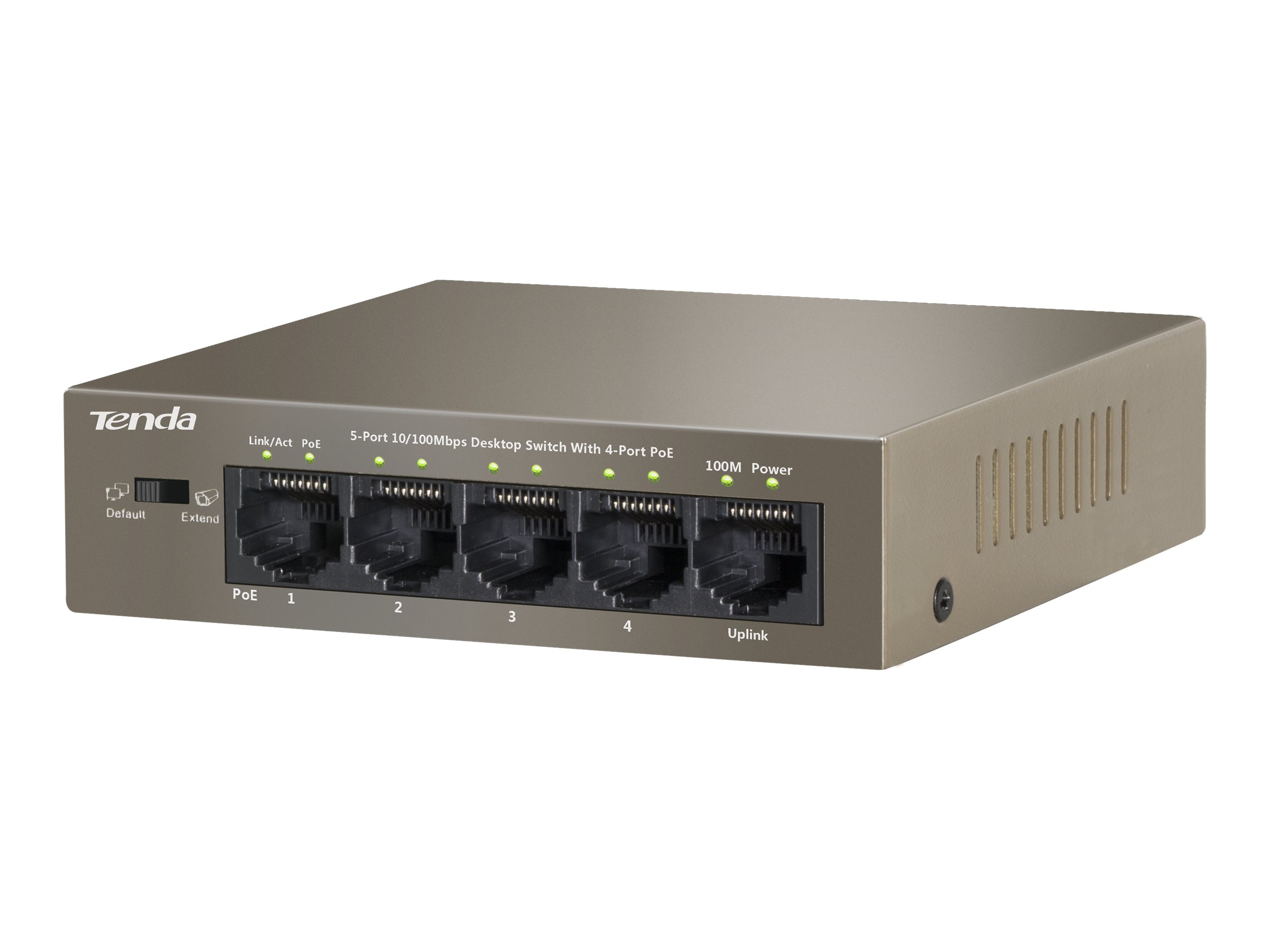 Tenda TEF1105P - Switch - unmanaged - 4 x 10/100 (PoE)