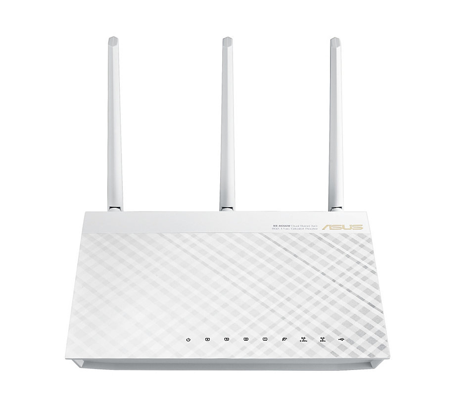 ASUS RT-AC66U Dual-Band (2,4 GHz/5 GHz) Gigabit Ethernet 3G 4G Weiß WLAN-Router