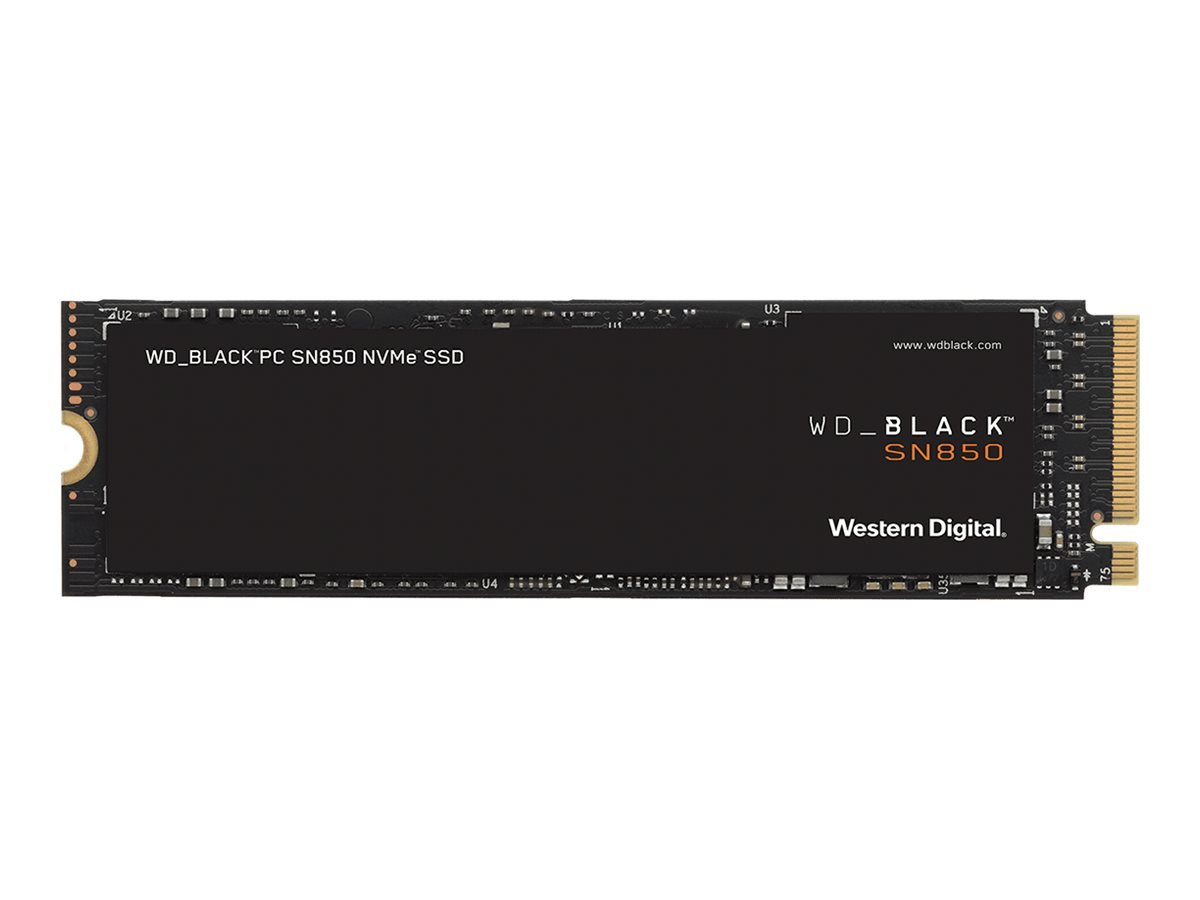 WD Black SN850 NVMe SSD WDS100T1X0E - 1 TB SSD - intern - M.2 2280 - PCI Express 4.0 x4 (NVMe)