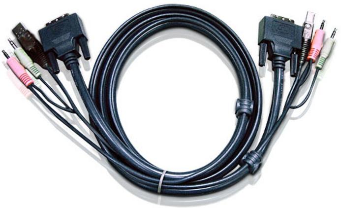 ATEN 2L-7D05UD 5m Schwarz Tastatur/Video/Maus (KVM)-Kabel