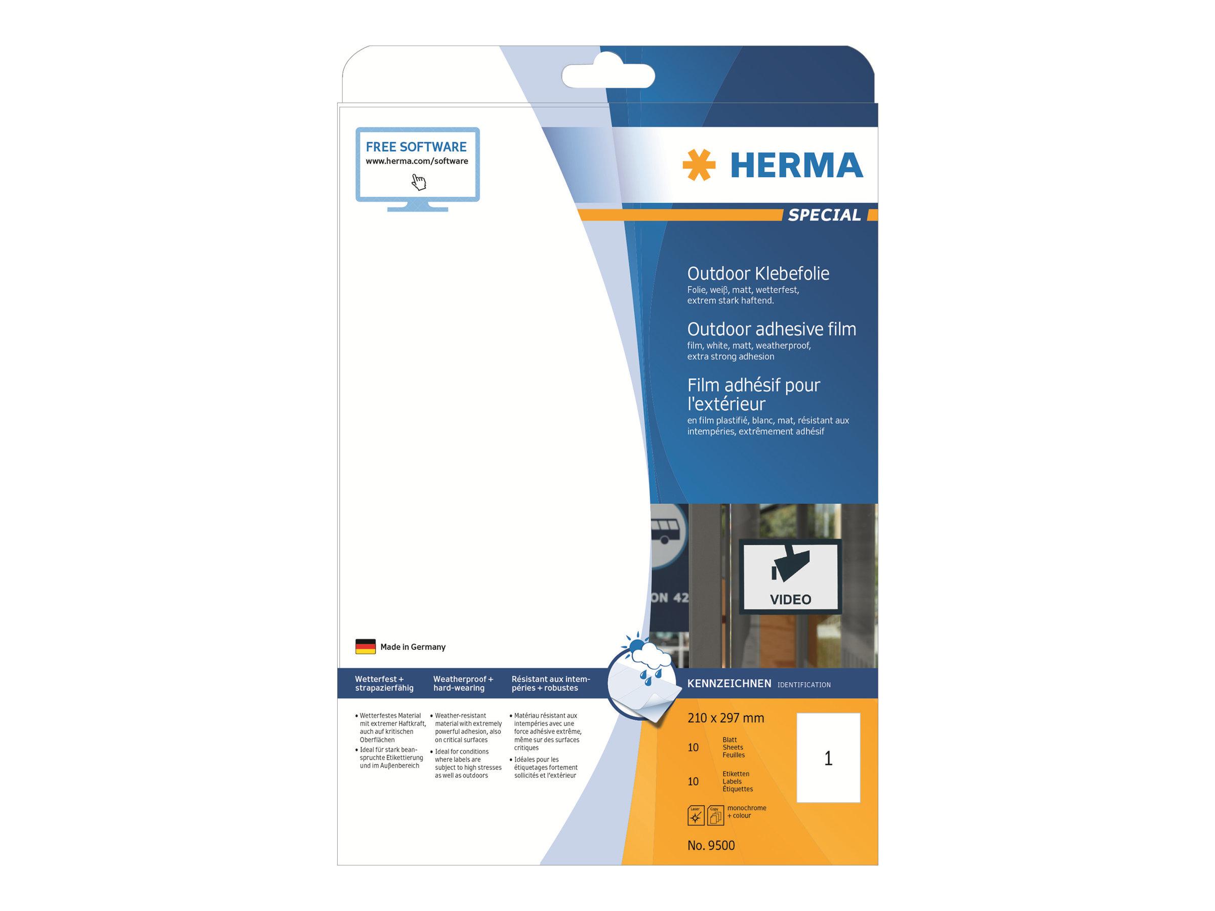 HERMA Special - Polyethylen (PE) - matt - selbstklebend - weiß - A4 (210 x 297 mm)