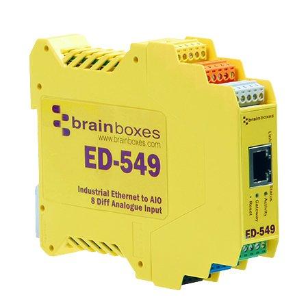 Brainboxes ED549 ICMP IP TCP DHCP HTTP 10,100 Mbit/s IEEE 802.3,IEEE 802.3u 140 g 128 x 102 x 23 mm 233 g