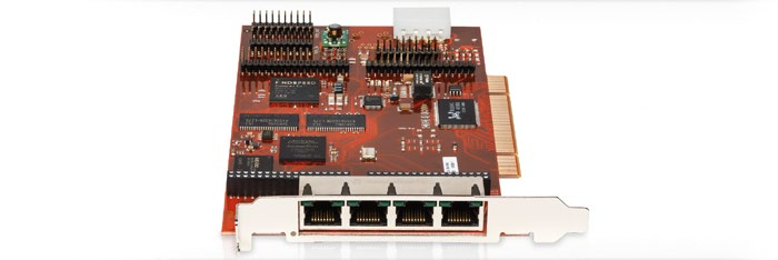 beroNet VoIP Card BF4004FXOe - VoIP-Gateway - PCIe