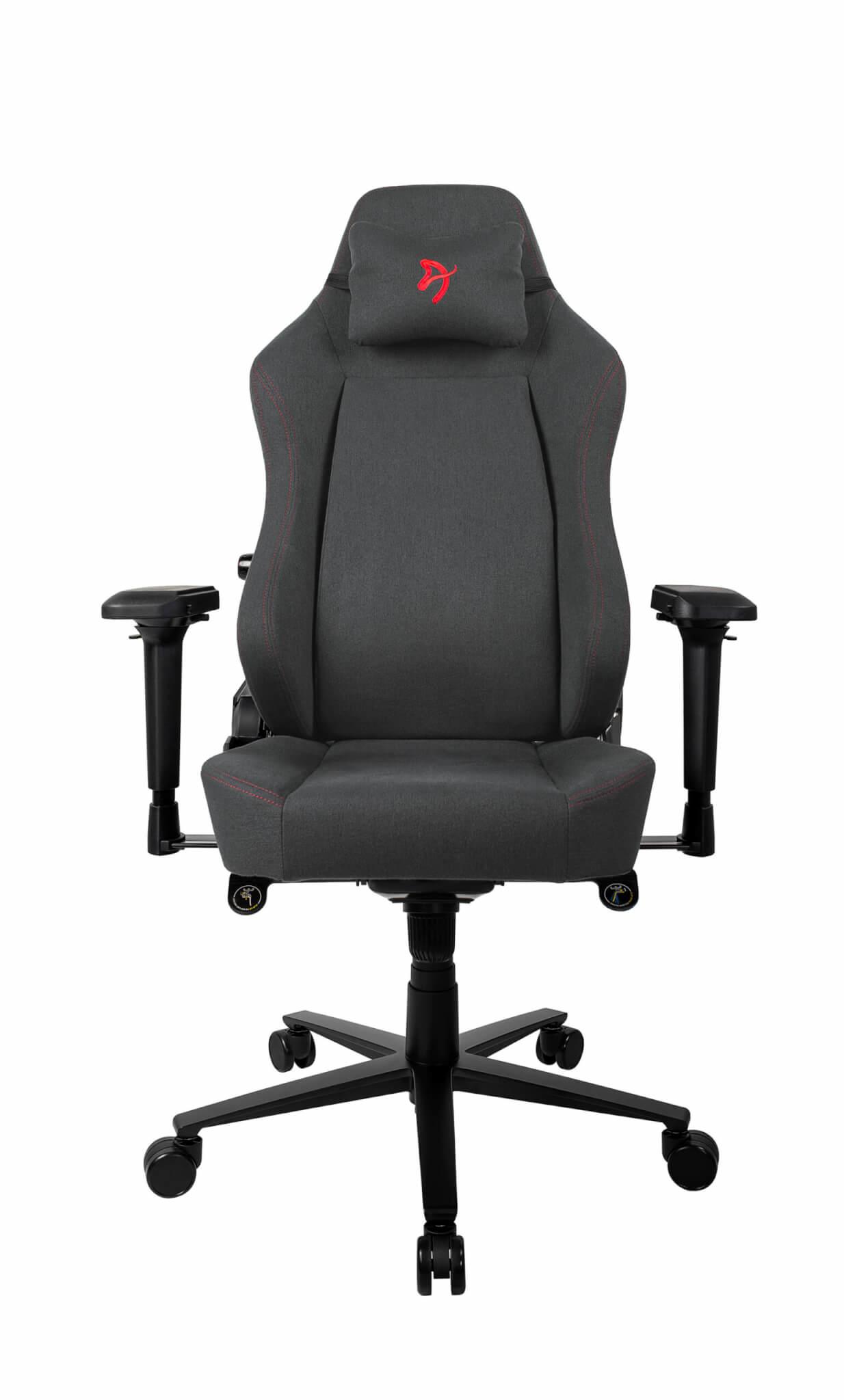 Arozzi Primo - Gepolsterter Sitz - Gepolsterte Rückenlehne - Schwarz - Rot - Schwarz - Rot - Stoff - Stoff