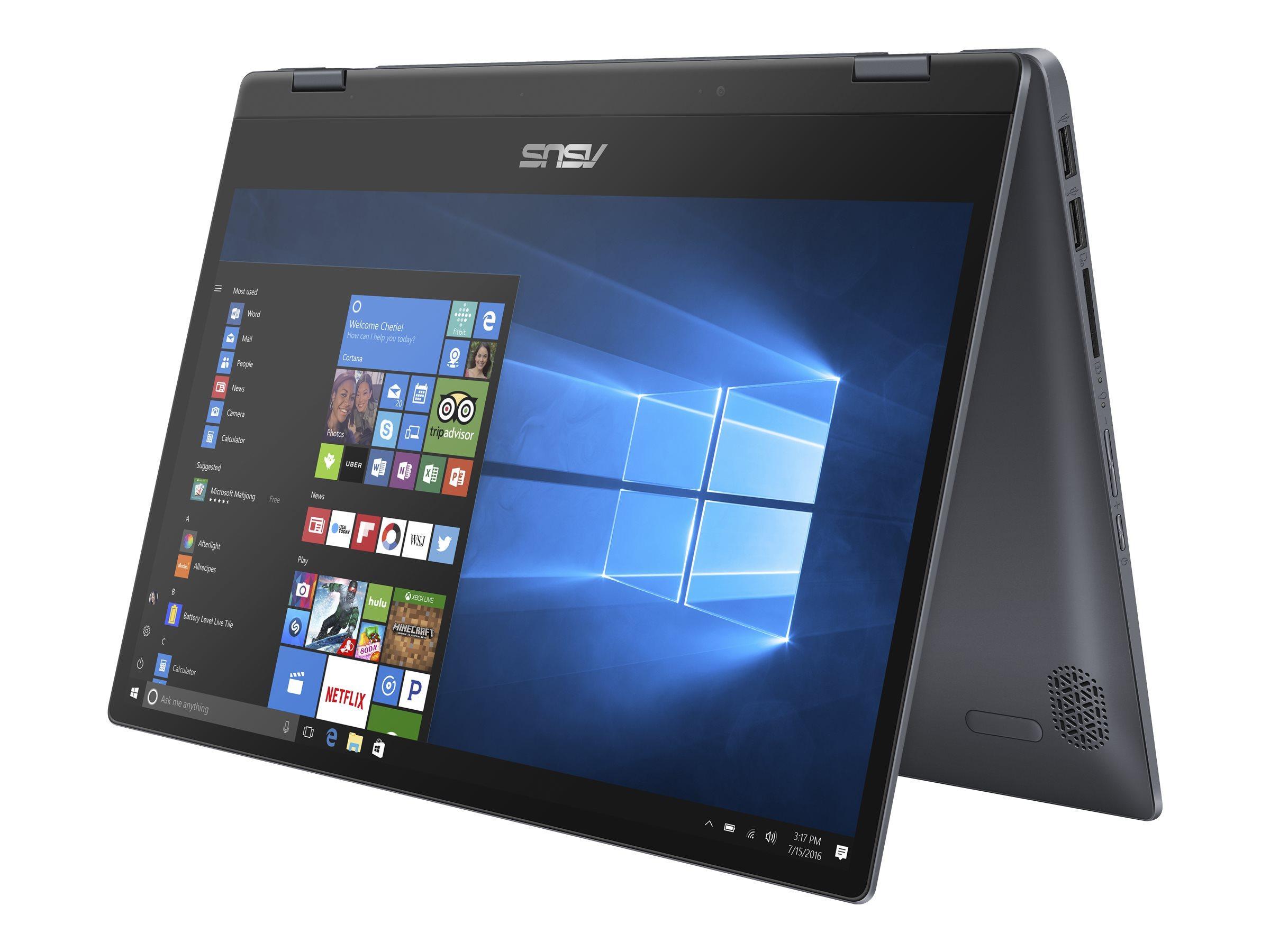 "ASUS VivoBook Flip 14 TP412FA EC0637T - Flip-Design - Core i3 10110U / 2.1 GHz - Win 10 Home in S mode - 8 GB RAM - 256 GB SSD NVMe - 35.6 cm (14"")"