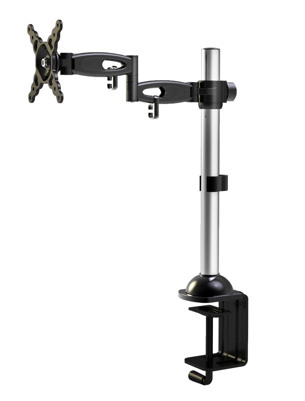 V7 Befestigungskit ( Spannbefestigung für Tisch, Stange, voll beweglicher Arm ) für LCD-Display - Schwarz - 10-24