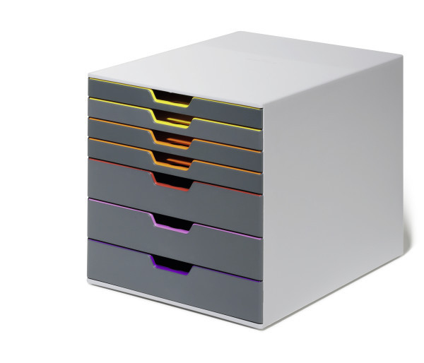 Durable Varicolor 7 - Grau - Mehrfarben - C4 - A4 - 7 Schublade(n) - 280 mm - 35,6 cm