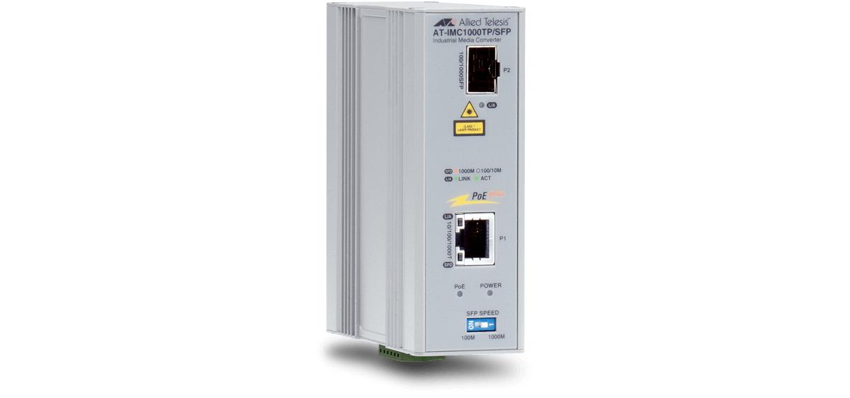 Allied Telesis AT-IMC1000TP/SFP-80 1000Mbit/s 1310nm Grau Netzwerk Medienkonverter