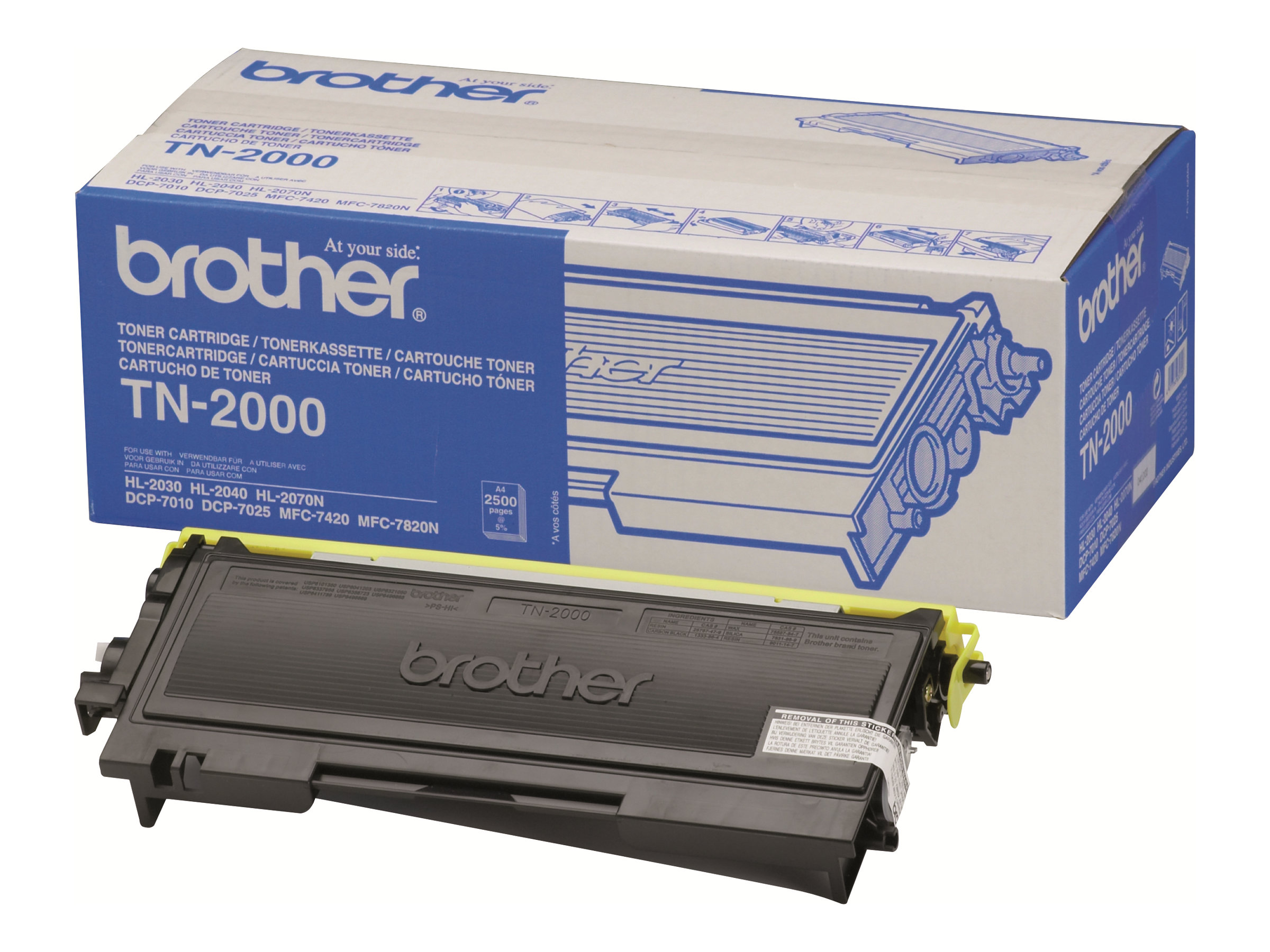 Brother TN2000 - Schwarz - Original - Tonerpatrone