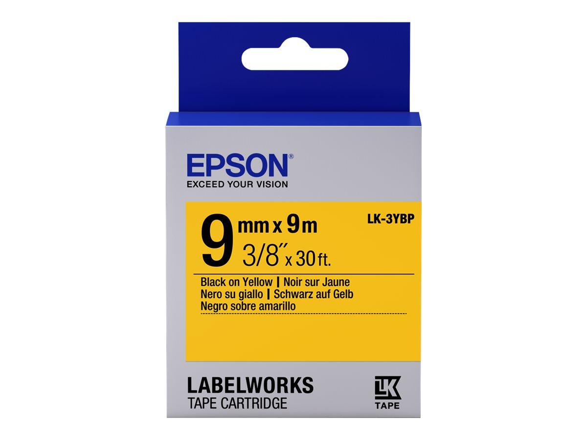 Epson LabelWorks LK-3YBP - Schwarz auf Gelb - Rolle (0,9 cm x 9 m)