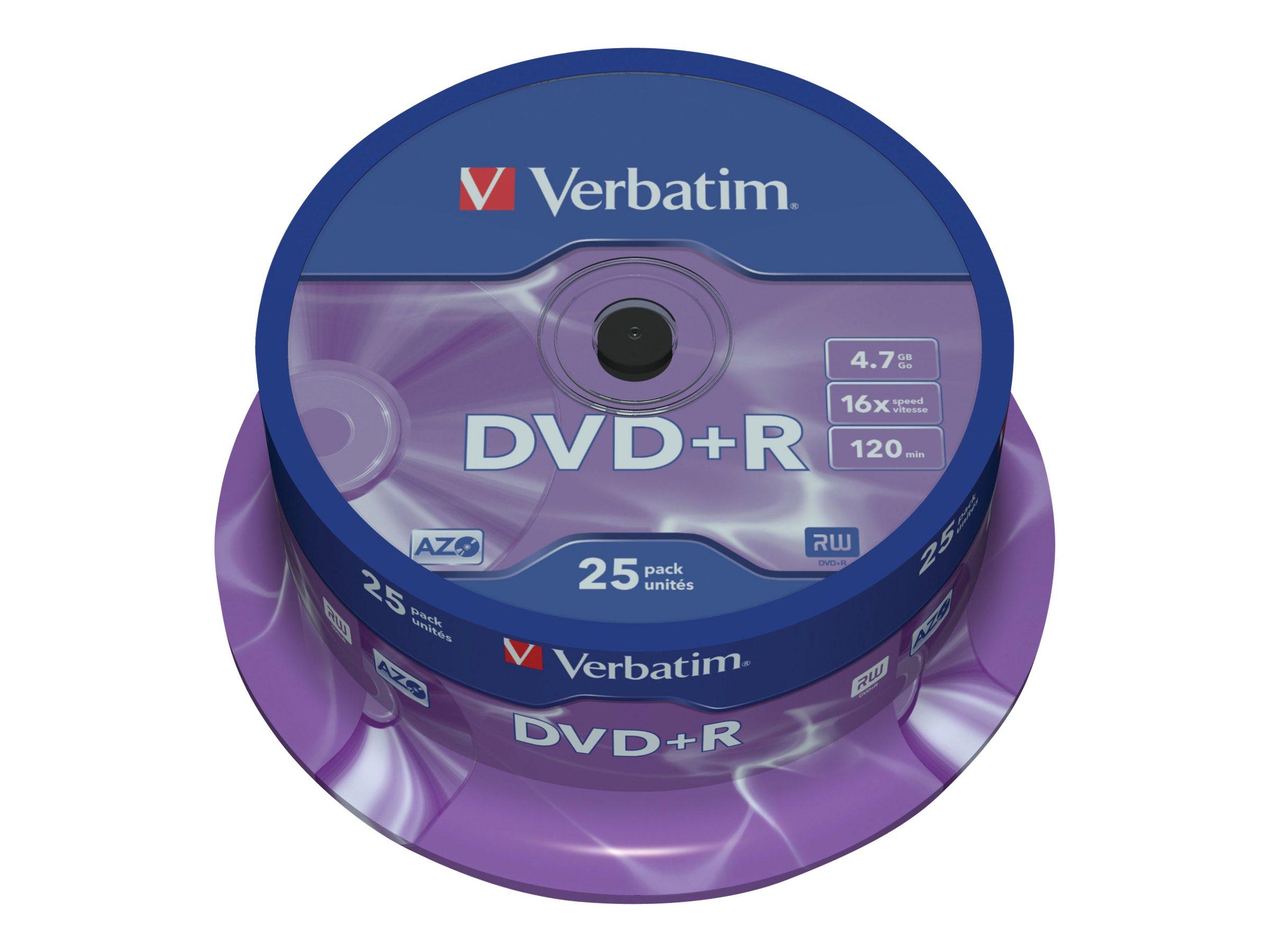 Verbatim DataLifePlus - 25 x DVD+R - 4.7 GB 16x