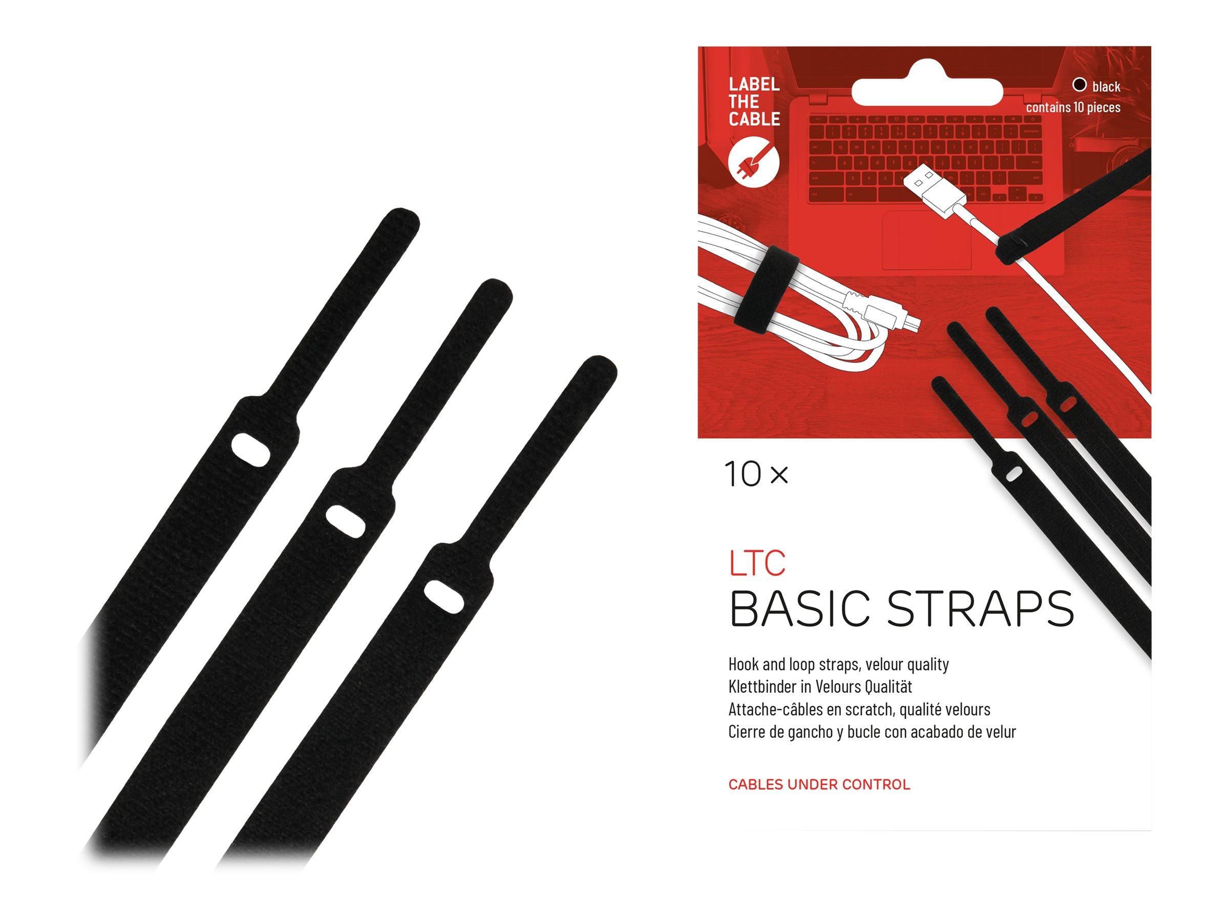Label-the-cable LTC BASIC STRAPS - Kabelbinder - 17 cm - Schwarz (Packung mit 10)