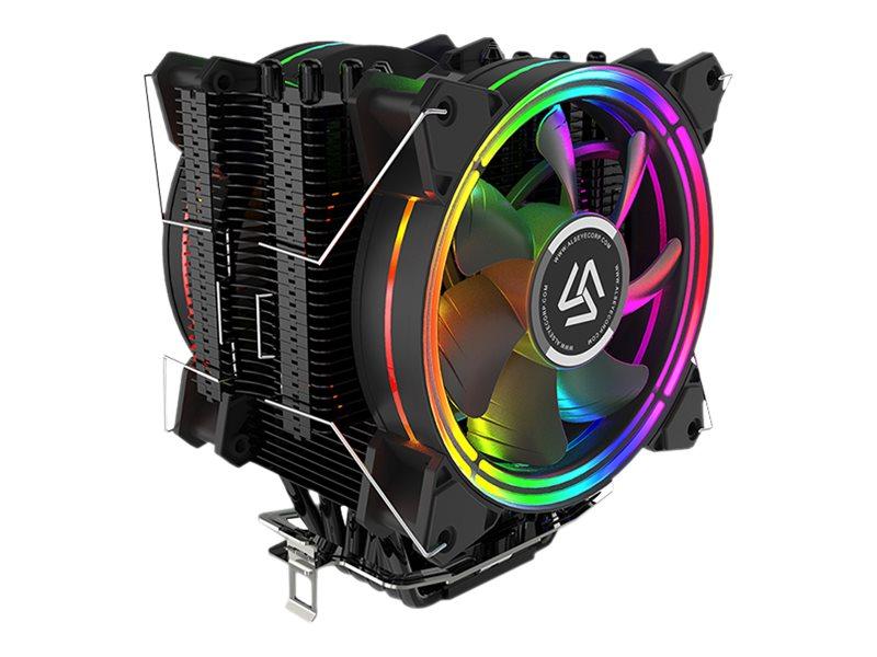 Inter-Tech ALSEYE H120D - Prozessor-Luftkühler - (für: LGA775, LGA1156, AM2, AM2+, LGA1366, AM3, LGA1155, AM3+, LGA2011, FM1, FM2, LGA1150, LGA1151, AM4, LGA1200)
