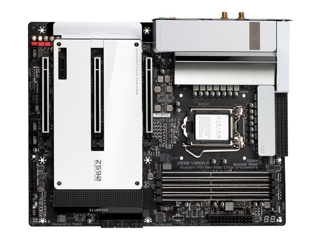 Vorschau: Gigabyte Z590 VISION D - 1.0 - Motherboard - ATX - LGA1200-Sockel - Z590 - USB-C Gen2, USB 3.2 Gen 1, USB 3.2 Gen 2, USB-C Gen 2x2 - Wi-Fi, Bluetooth, 2 x 2.5 Gigabit LAN - Onboard-Grafik (CPU erforderlich)