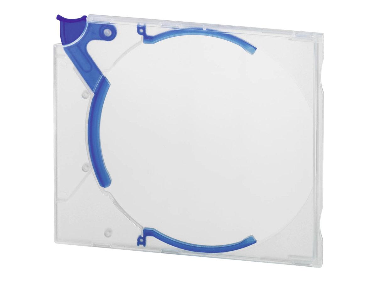 Durable QUICKFLIP Standard - KickOut Case - Kapazität: 1 CD/DVD - Blau (Packung mit 10)