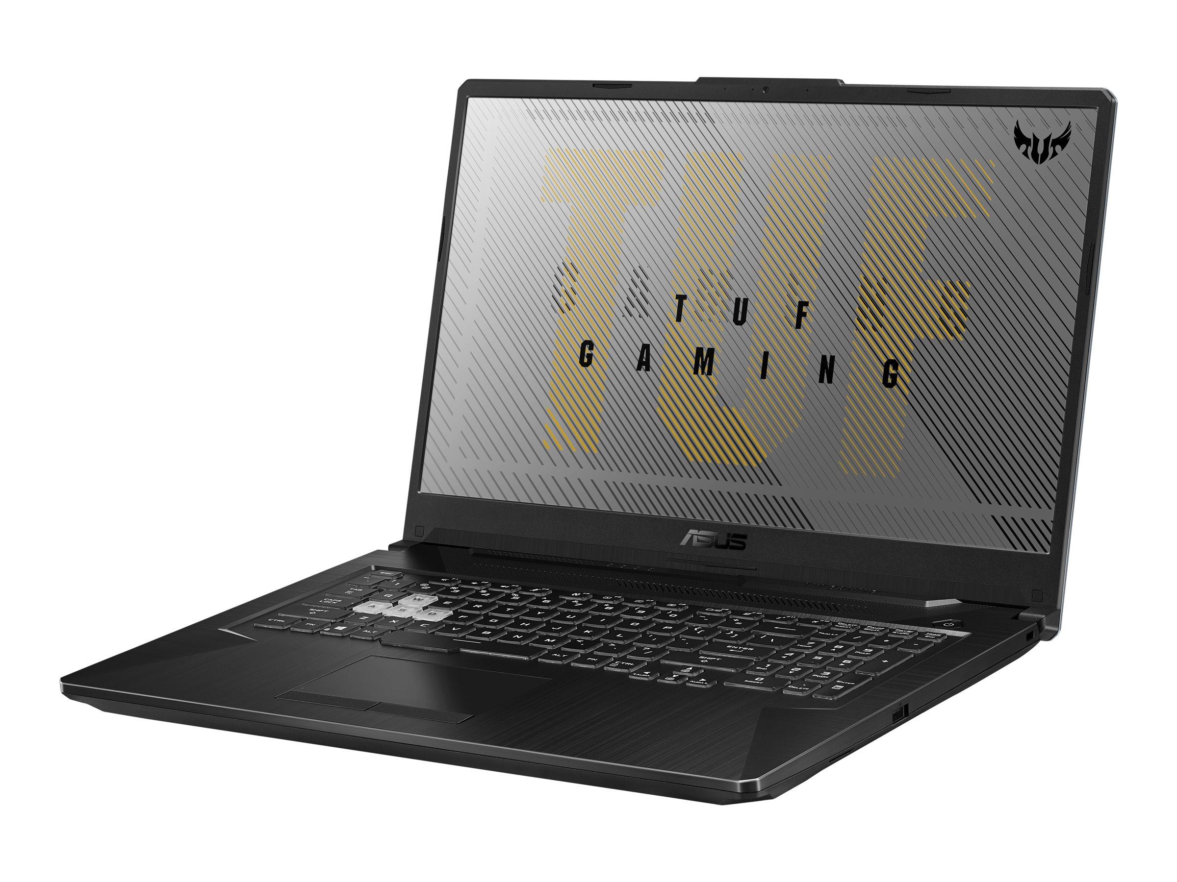 "ASUS TUF Gaming A17 FA706II-H7021T - Ryzen 5 4600H / 3 GHz - Win 10 Home 64-Bit - 8 GB RAM - 512 GB SSD - 43.9 cm (17.3"""