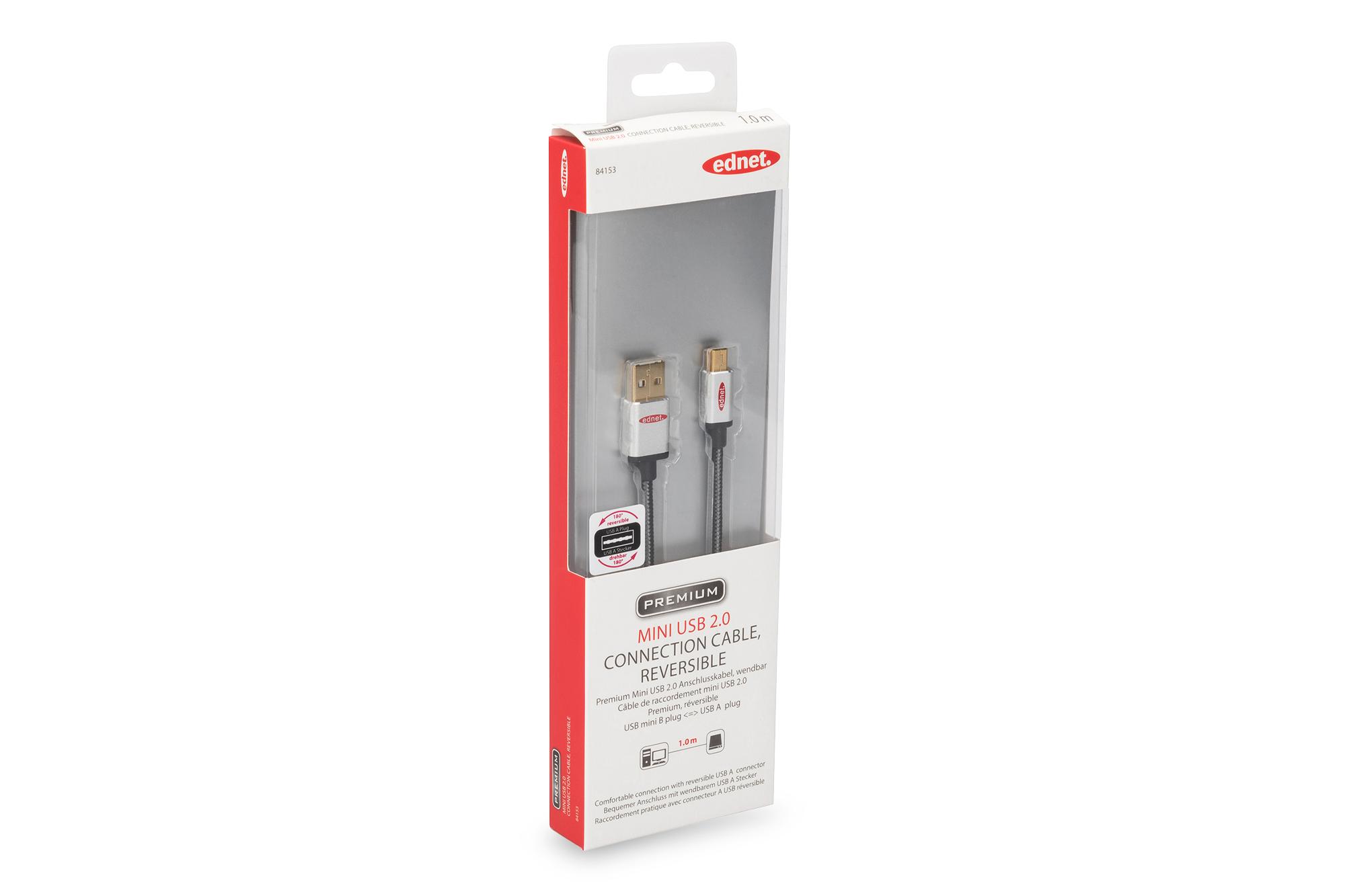 Assmann USB 2.0 Anschlusskabel, wendbar