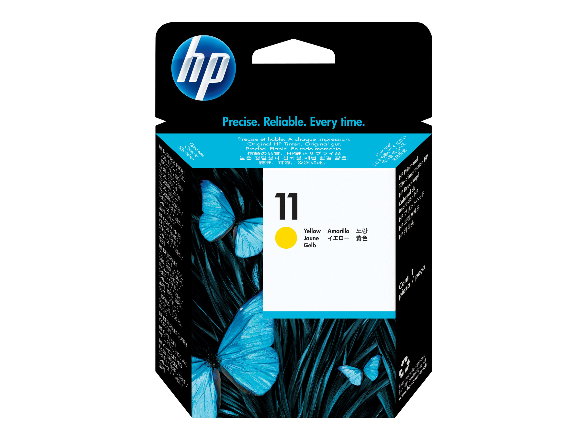 HP 11 - Dye-Based Yellow - Druckkopf - für Business Inkjet 1000, 1200, 2800
