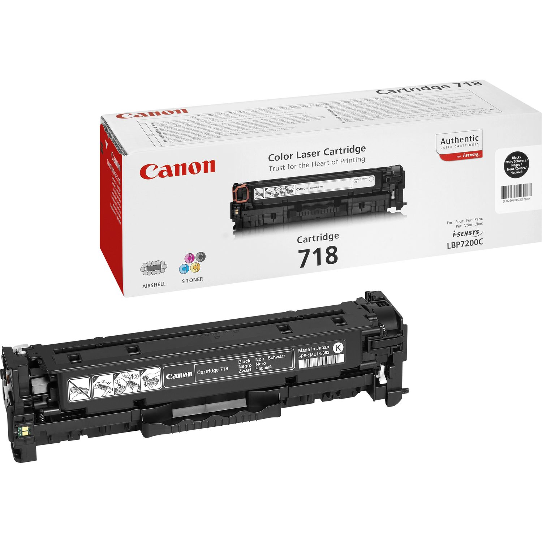 Canon 718 Black Sort 3400 sider
